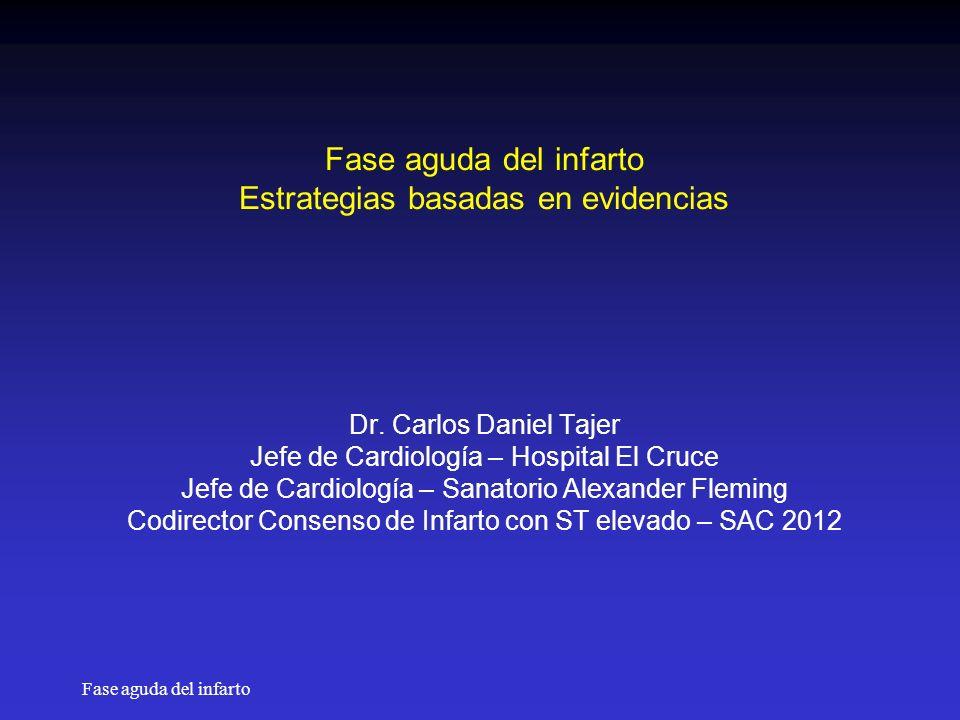 Fase aguda del infarto Estrategias basadas en evidencias Dr