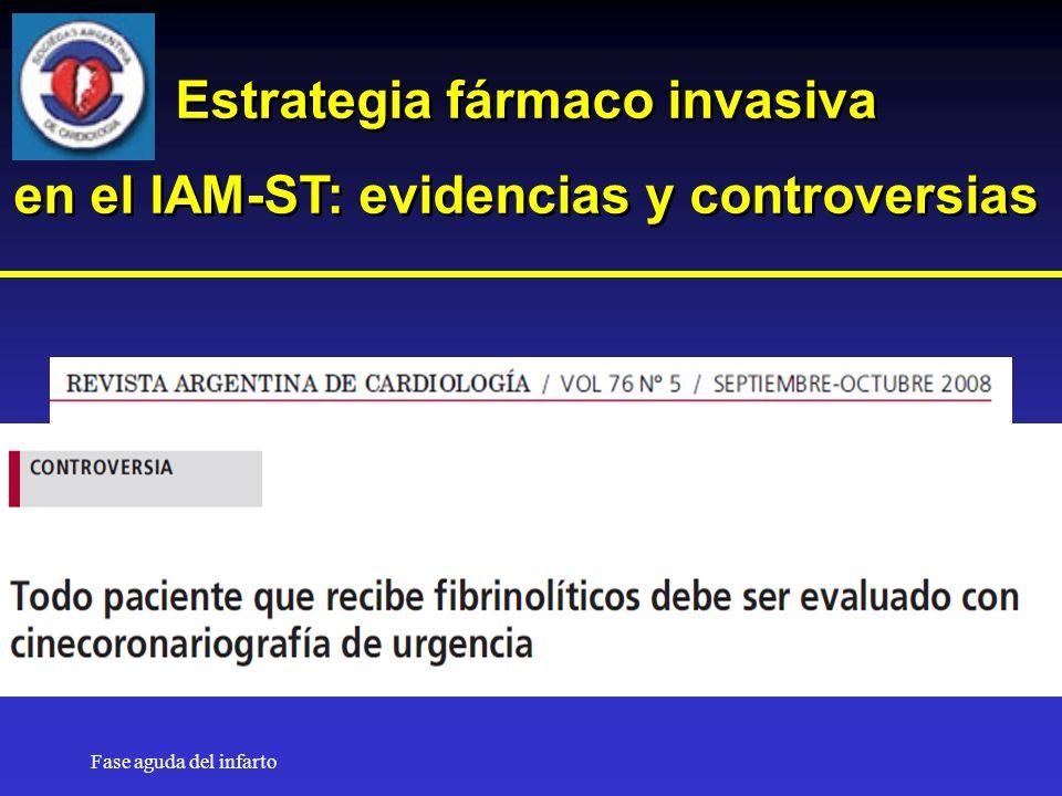 Estrategia fármaco invasiva en el IAM-ST: evidencias y controversias