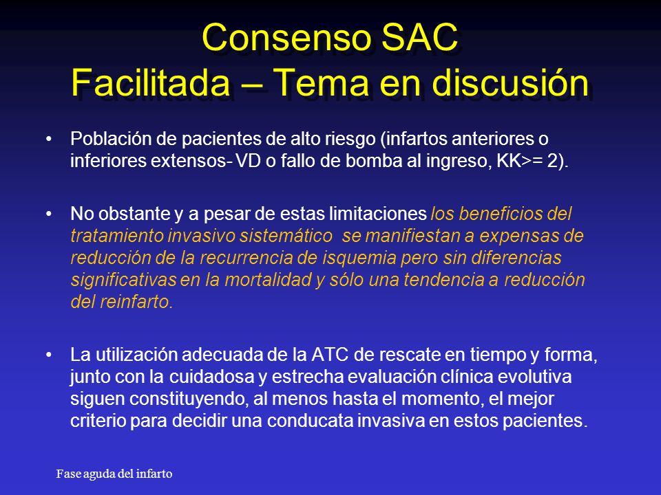 Consenso SAC Facilitada – Tema en discusión