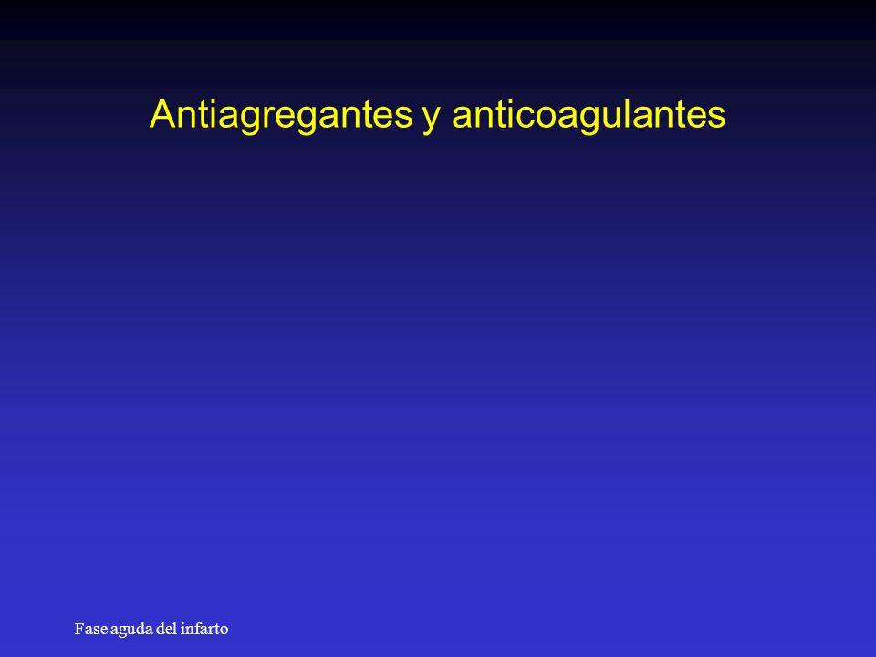 Antiagregantes y anticoagulantes