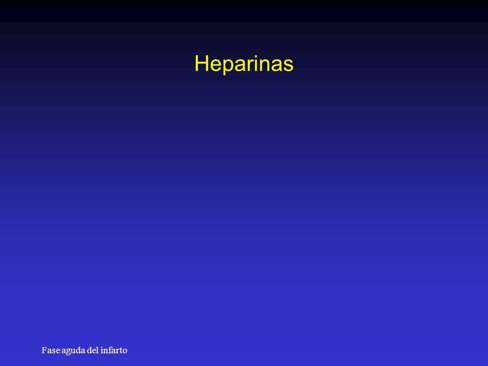 Heparinas Fase aguda del infarto