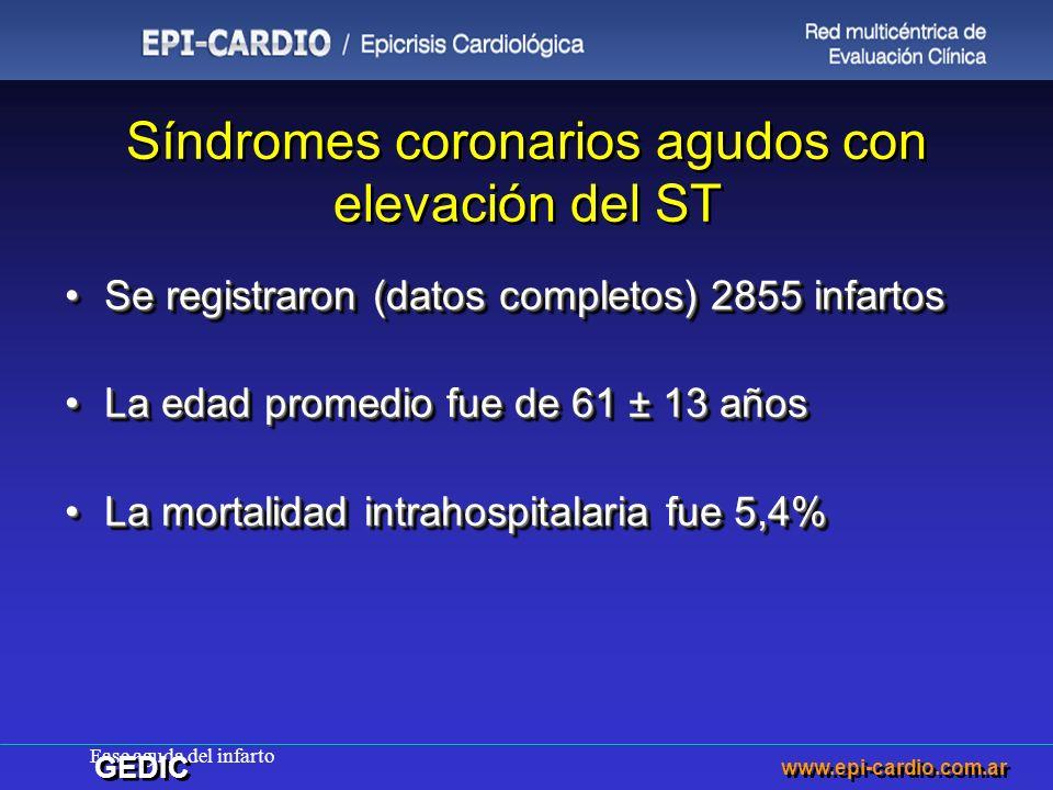 Síndromes coronarios agudos con elevación del ST