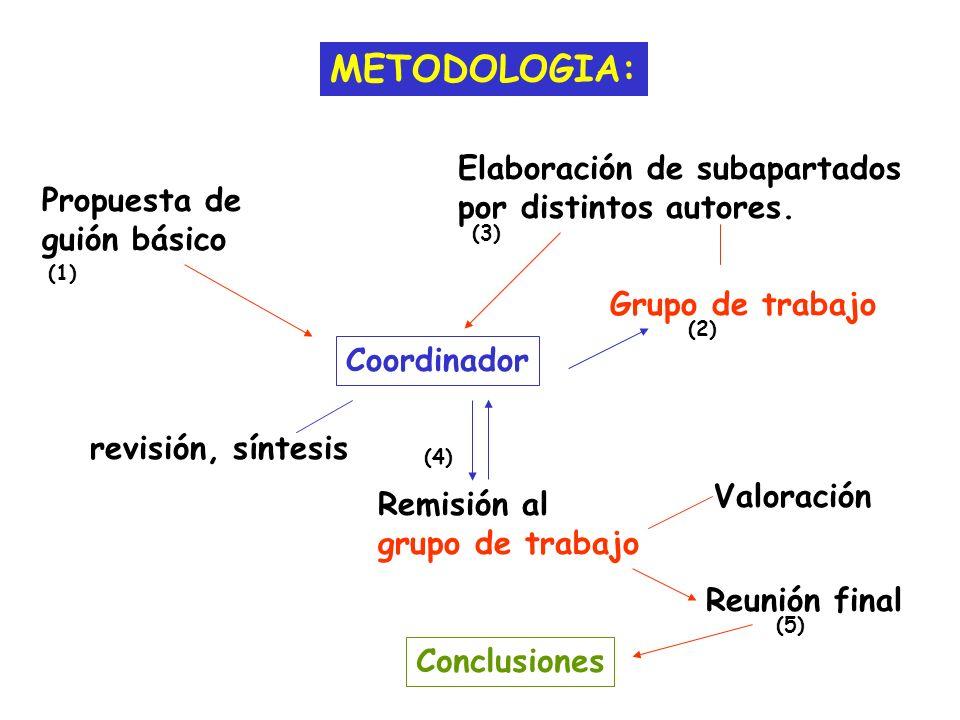 METODOLOGIA: Elaboración de subapartados por distintos autores.