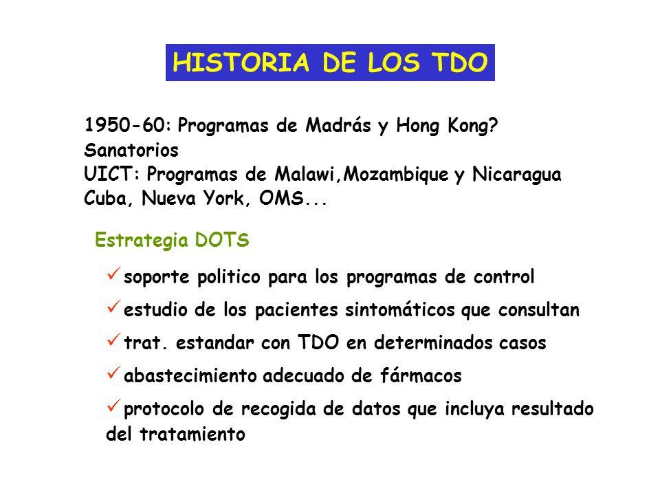 HISTORIA DE LOS TDO 1950-60: Programas de Madrás y Hong Kong