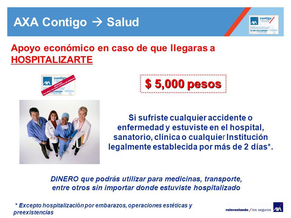 AXA Contigo  Salud $ 5,000 pesos