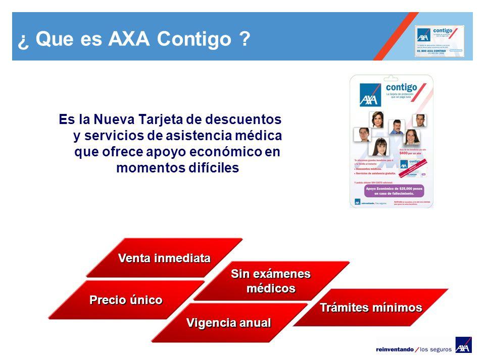 ¿ Que es AXA Contigo Es la Nueva Tarjeta de descuentos y servicios de asistencia médica que ofrece apoyo económico en momentos difíciles.
