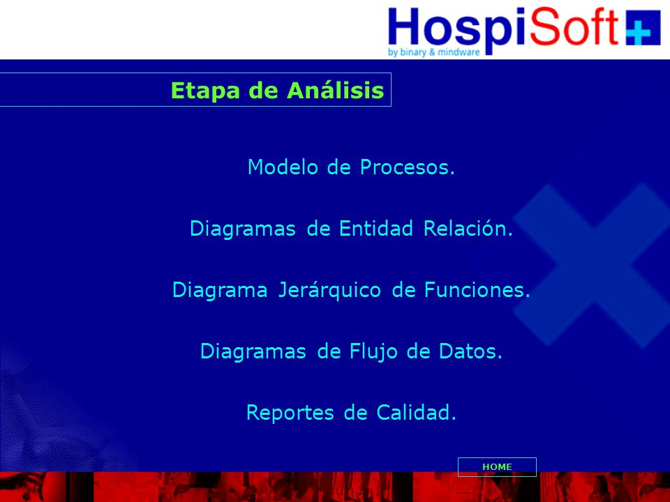 Etapa de Análisis Modelo de Procesos. Diagramas de Entidad Relación.