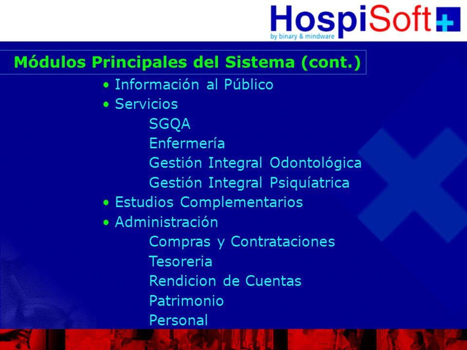 Módulos Principales del Sistema (cont.)