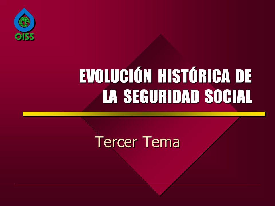 EVOLUCIÓN HISTÓRICA DE LA SEGURIDAD SOCIAL