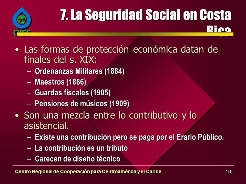 7. La Seguridad Social en Costa Rica