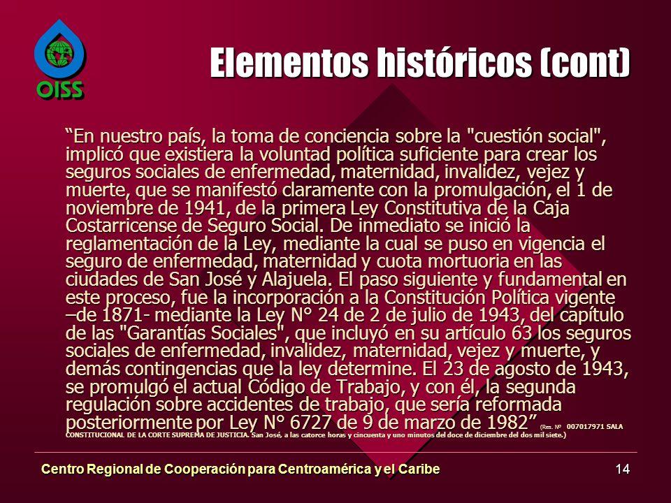 Elementos históricos (cont)