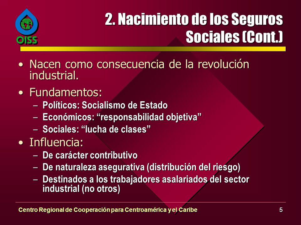 2. Nacimiento de los Seguros Sociales (Cont.)