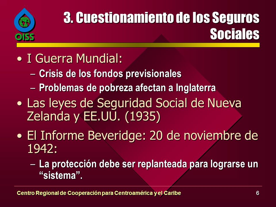 3. Cuestionamiento de los Seguros Sociales