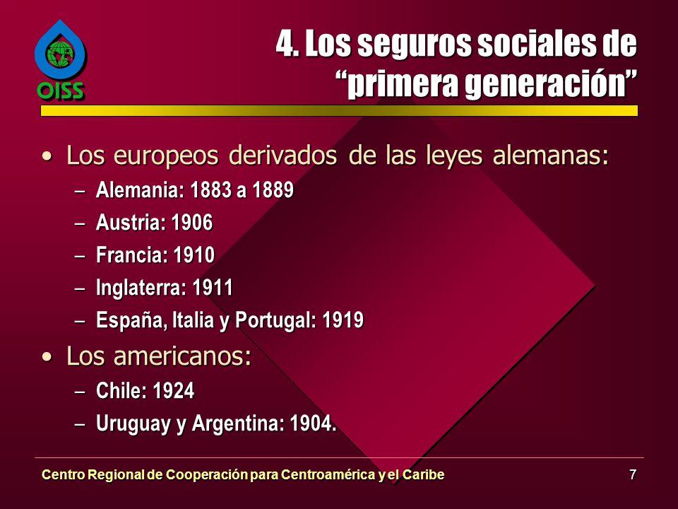 4. Los seguros sociales de primera generación