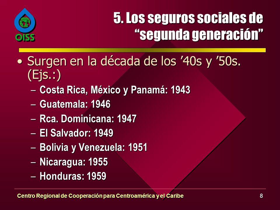 5. Los seguros sociales de segunda generación