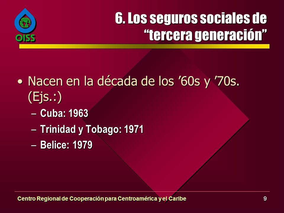 6. Los seguros sociales de tercera generación