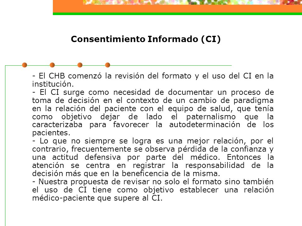Consentimiento Informado (CI)