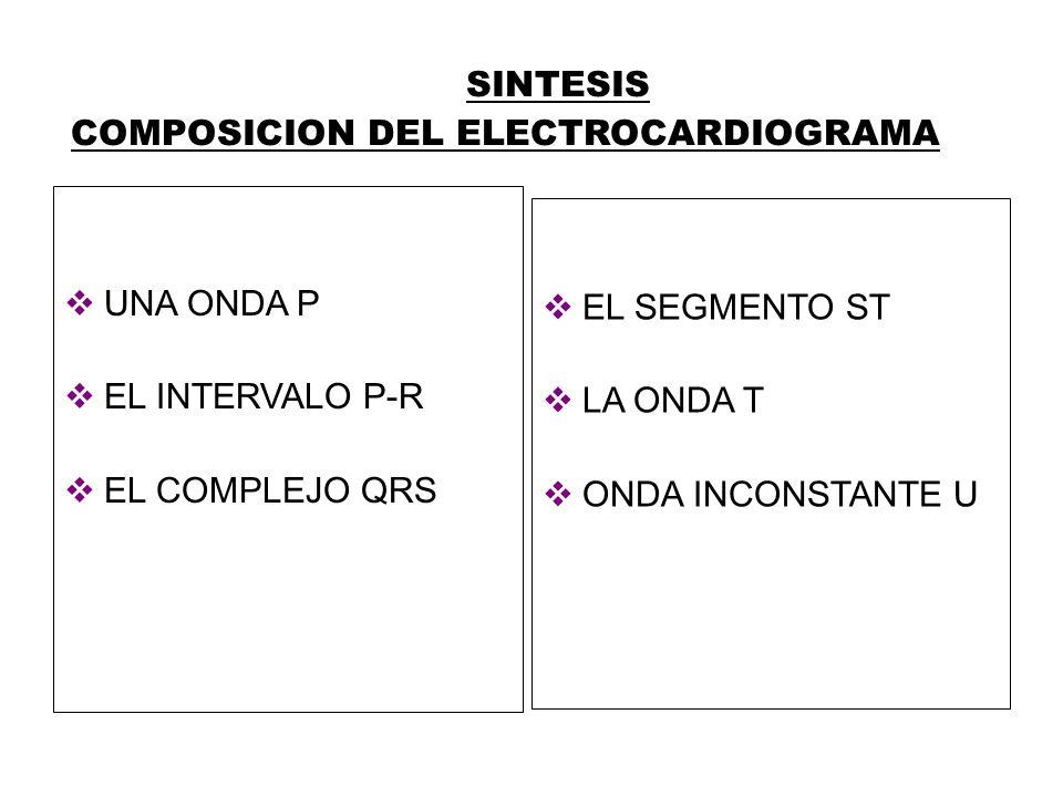 SINTESIS COMPOSICION DEL ELECTROCARDIOGRAMA