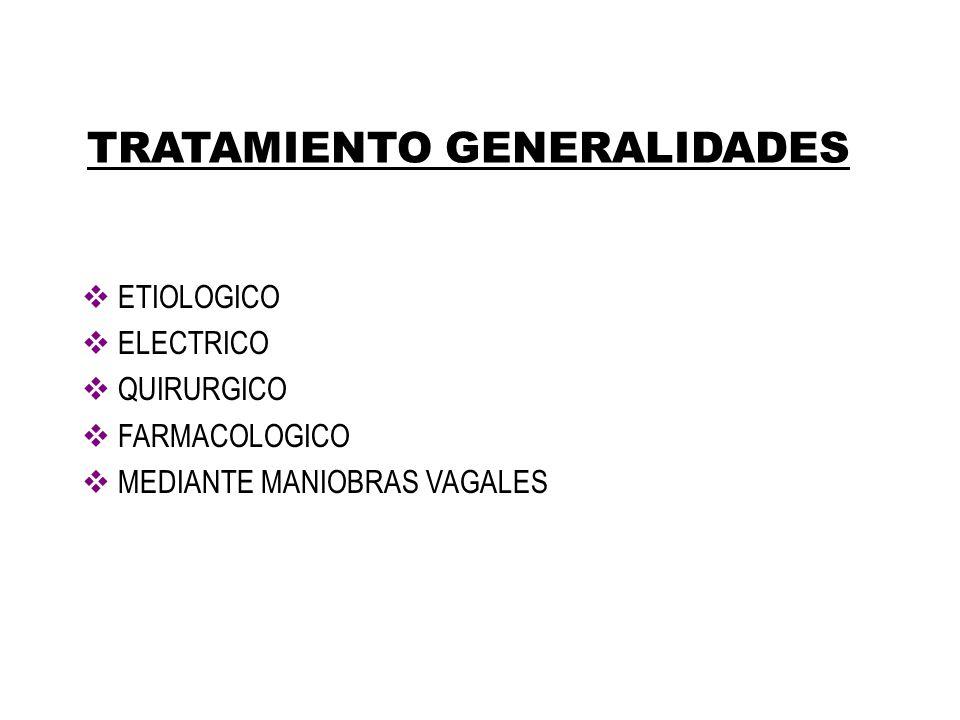 TRATAMIENTO GENERALIDADES