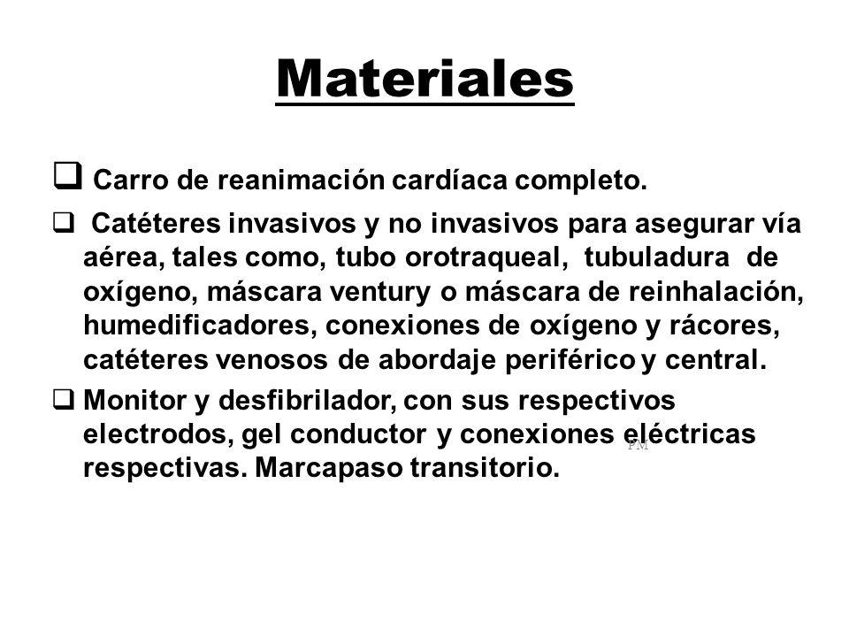 Materiales Carro de reanimación cardíaca completo.