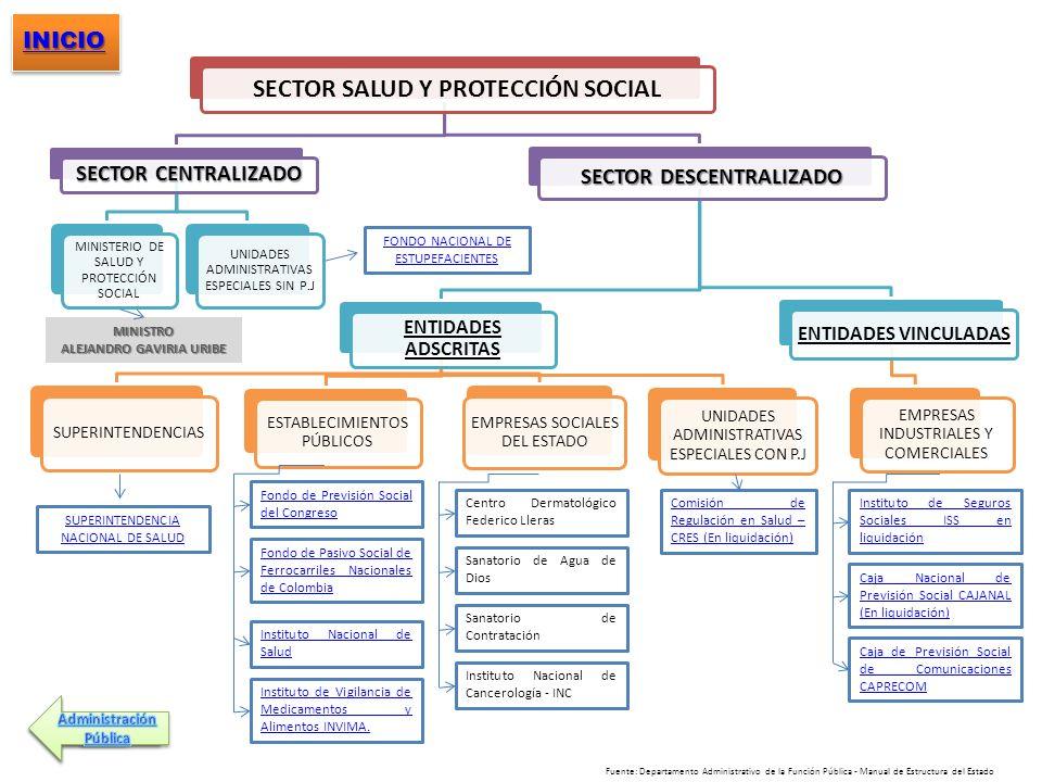SECTOR SALUD Y PROTECCIÓN SOCIAL SECTOR DESCENTRALIZADO