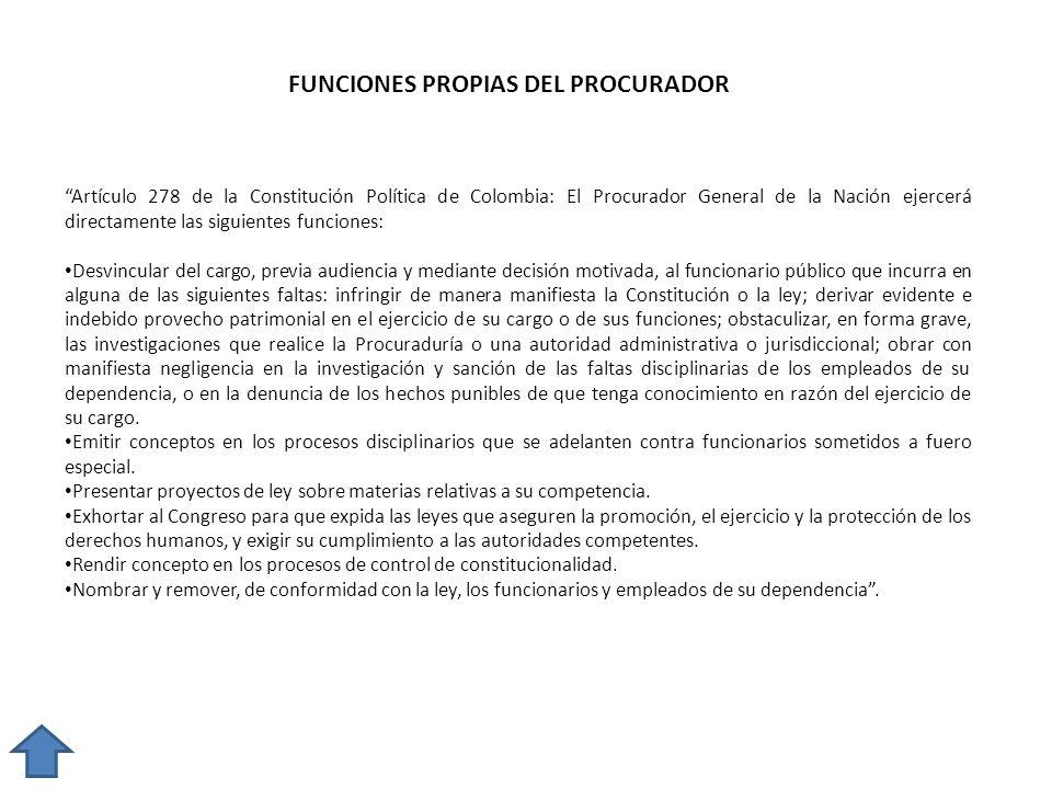 FUNCIONES PROPIAS DEL PROCURADOR