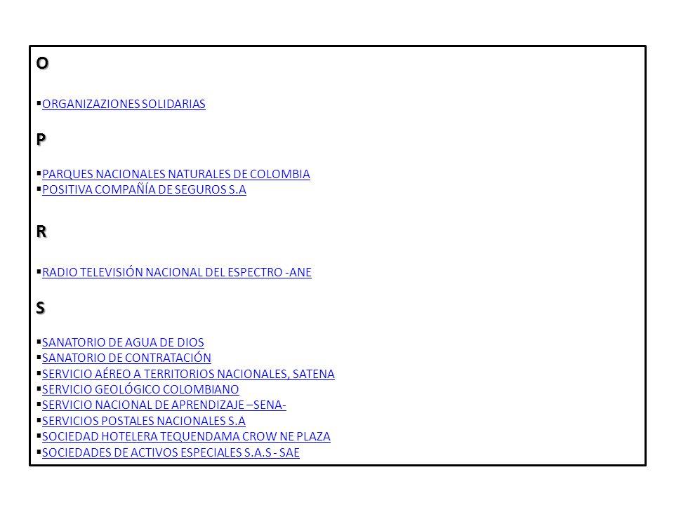 O P R S ORGANIZAZIONES SOLIDARIAS
