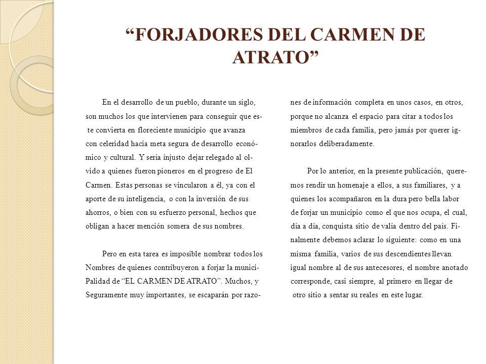 FORJADORES DEL CARMEN DE ATRATO