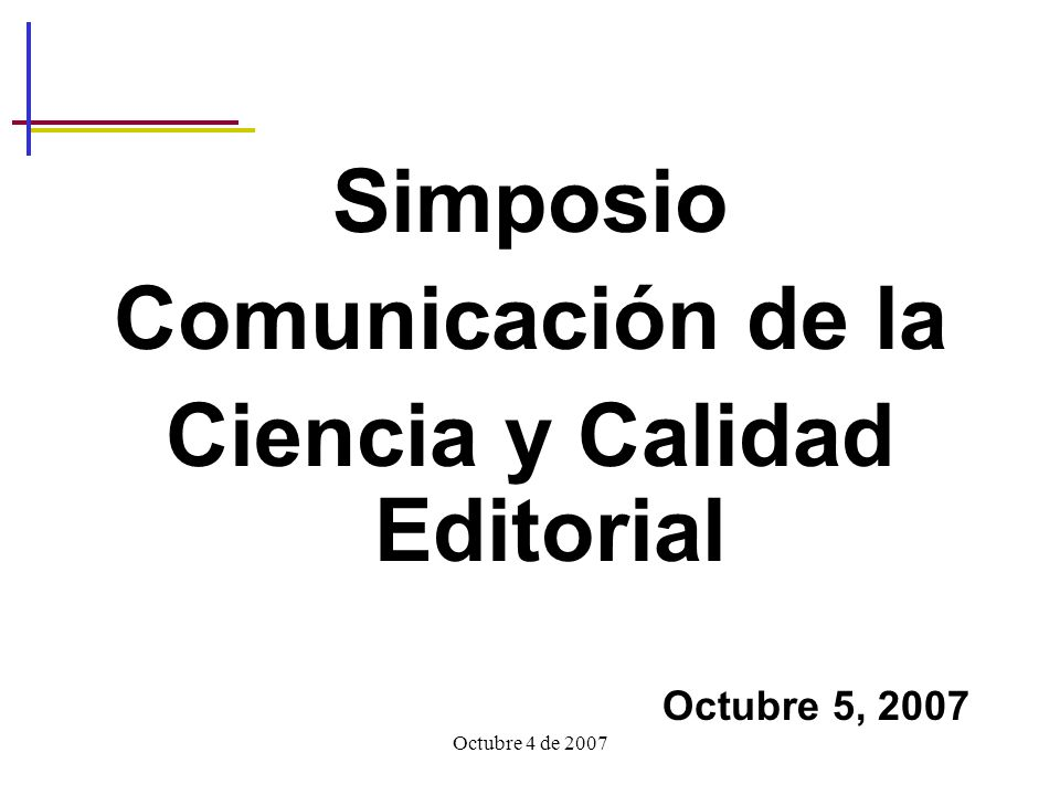 Ciencia y Calidad Editorial