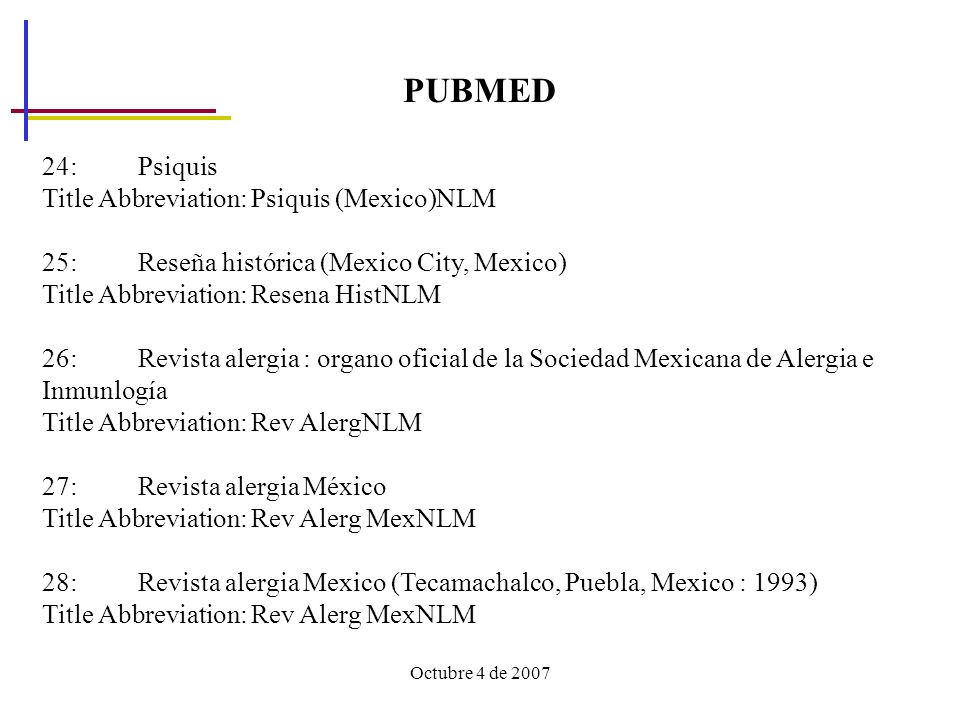 PUBMED 24: Psiquis Title Abbreviation: Psiquis (Mexico)NLM