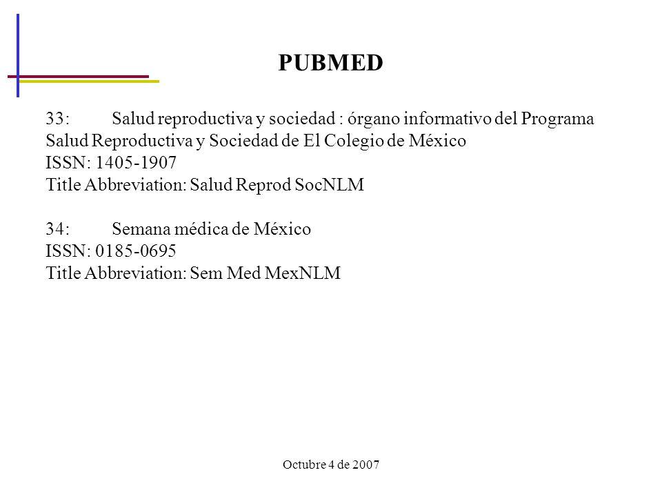 PUBMED 33: Salud reproductiva y sociedad : órgano informativo del Programa Salud Reproductiva y Sociedad de El Colegio de México.
