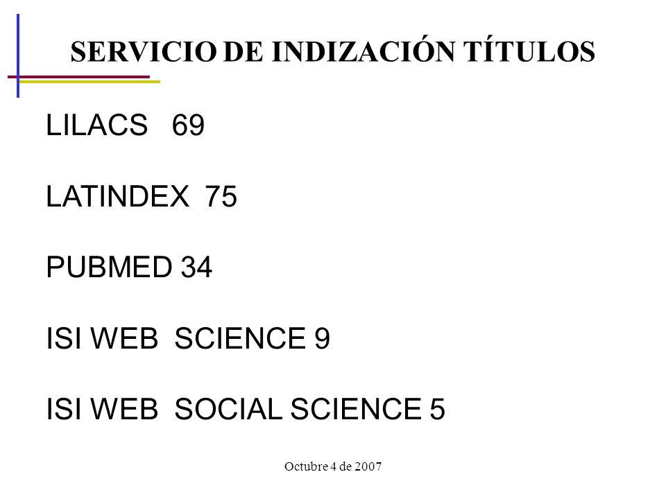 SERVICIO DE INDIZACIÓN TÍTULOS