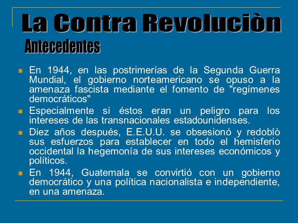 La Contra Revoluciòn Antecedentes