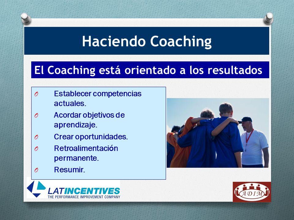 Haciendo Coaching El Coaching está orientado a los resultados.
