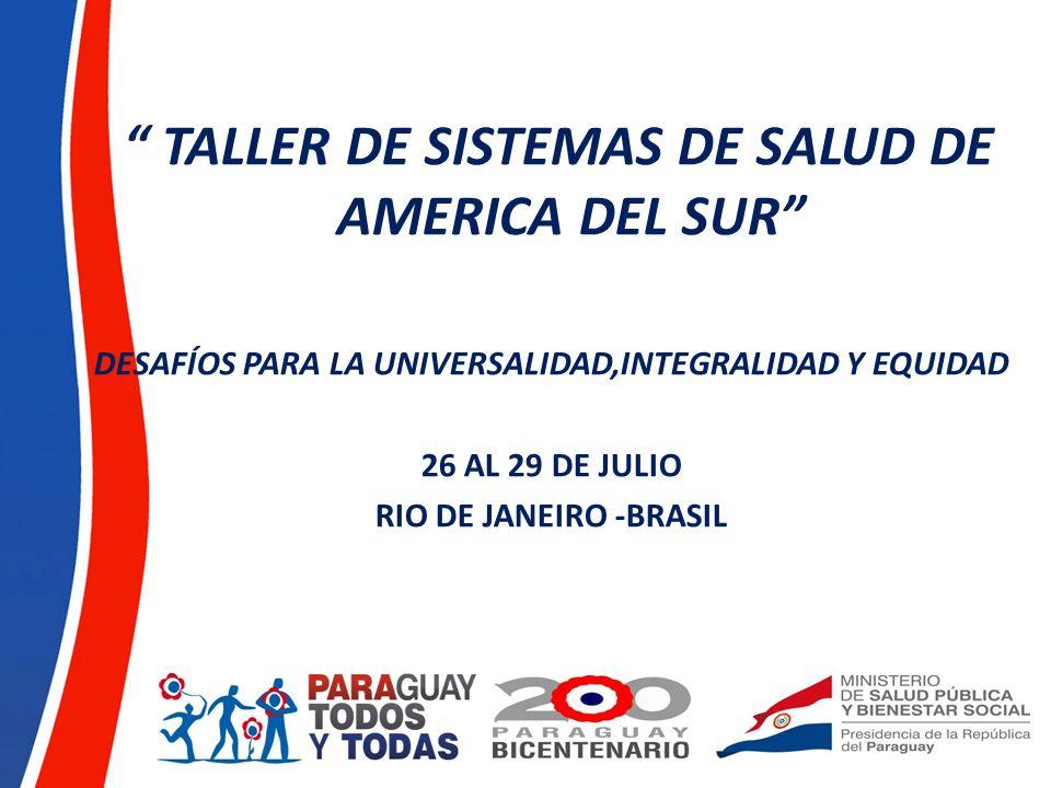 TALLER DE SISTEMAS DE SALUD DE AMERICA DEL SUR