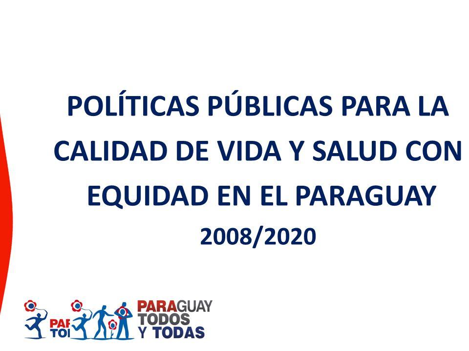 POLÍTICAS PÚBLICAS PARA LA CALIDAD DE VIDA Y SALUD CON