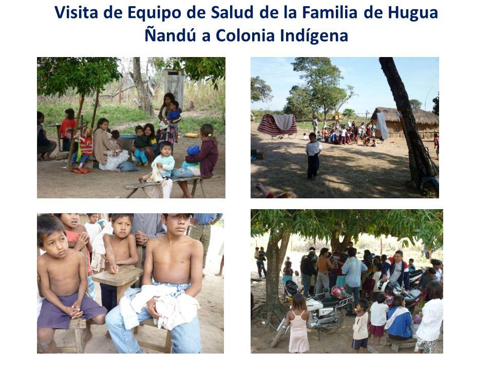 Visita de Equipo de Salud de la Familia de Hugua Ñandú a Colonia Indígena