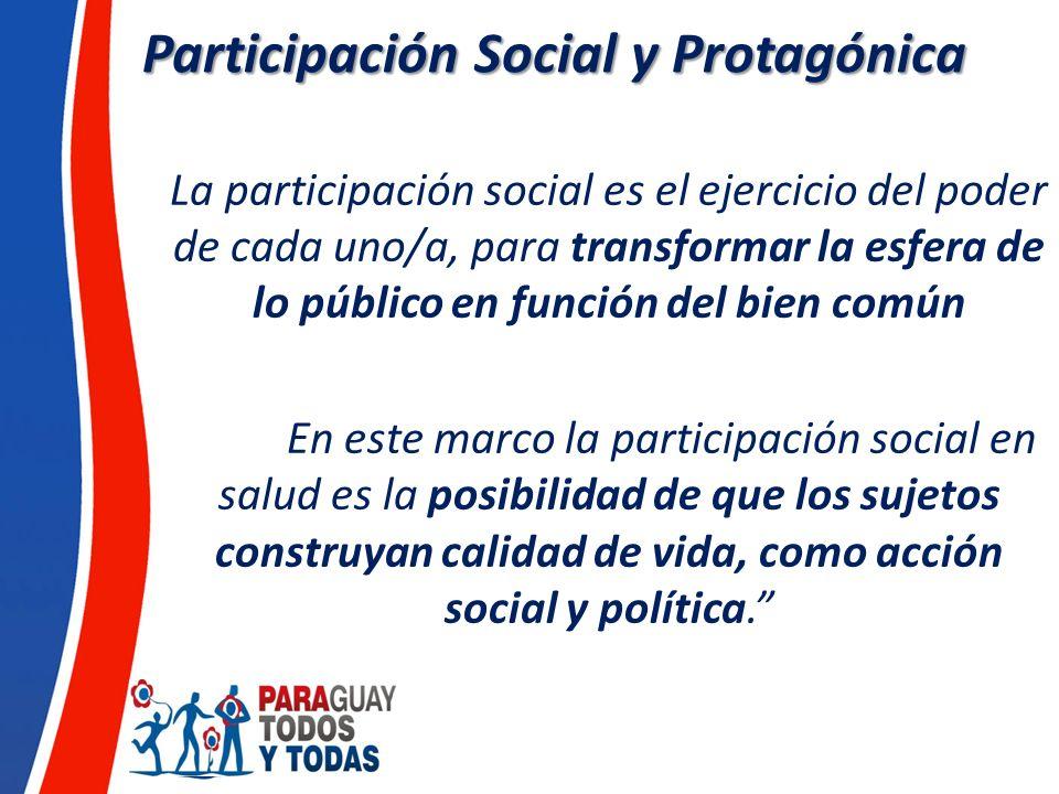 Participación Social y Protagónica
