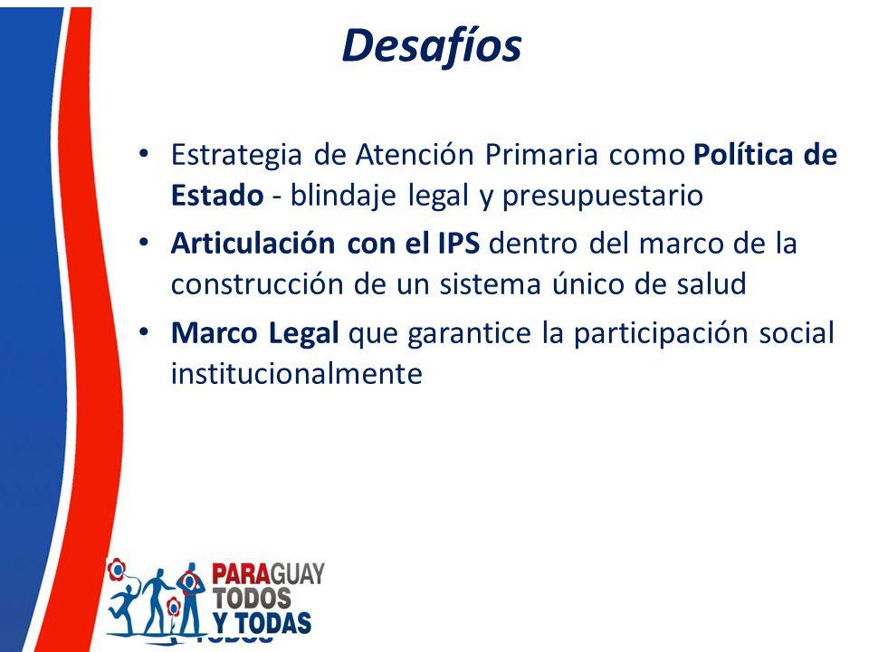 Desafíos Estrategia de Atención Primaria como Política de Estado - blindaje legal y presupuestario.