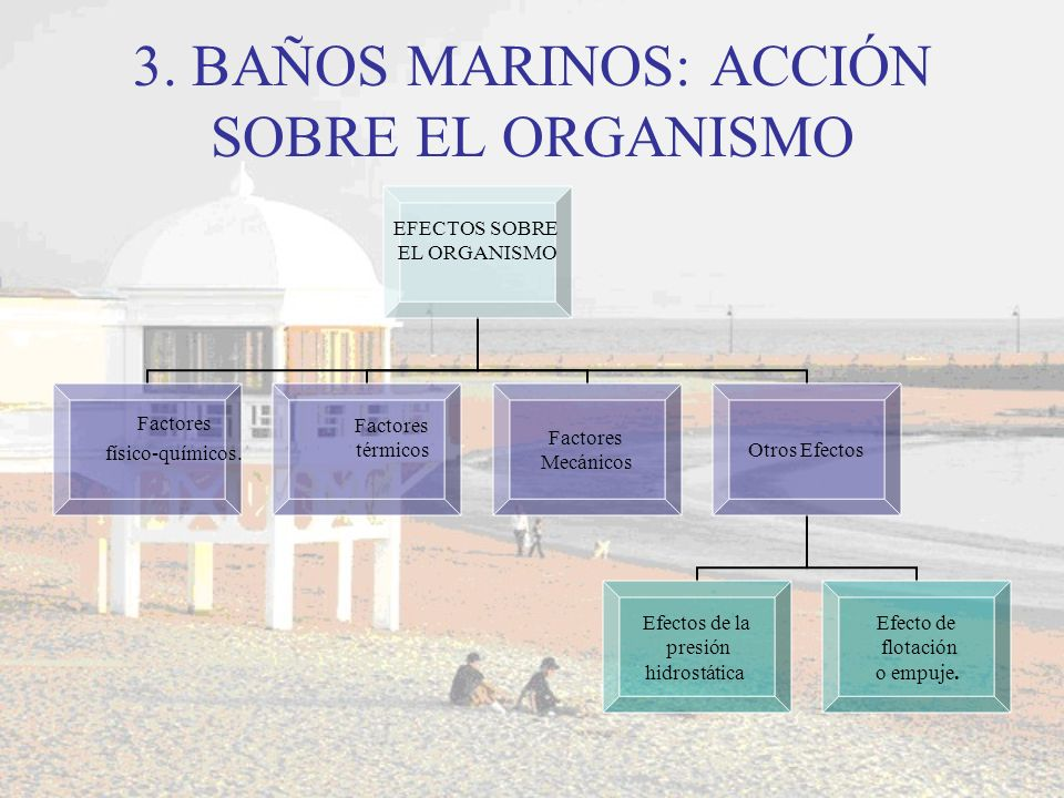 3. BAÑOS MARINOS: ACCIÓN SOBRE EL ORGANISMO