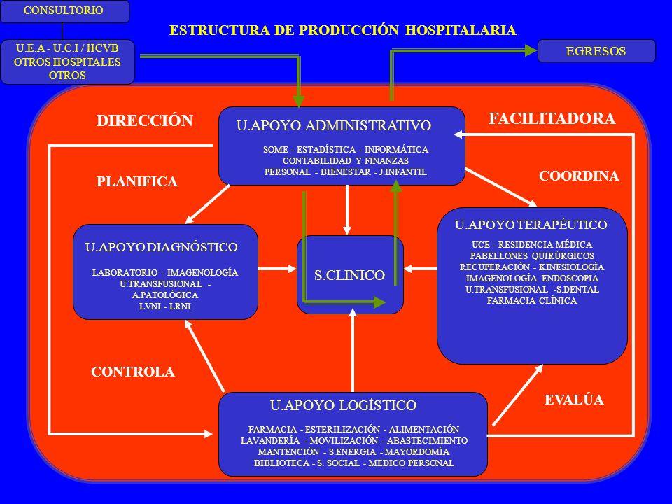 FACILITADORA DIRECCIÓN ESTRUCTURA DE PRODUCCIÓN HOSPITALARIA