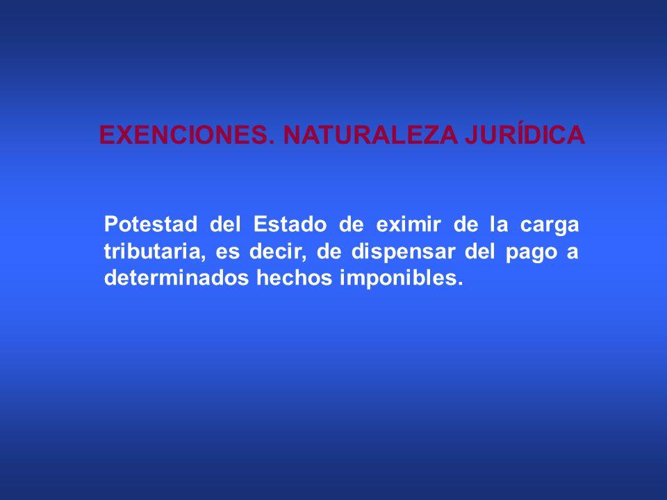 EXENCIONES. NATURALEZA JURÍDICA