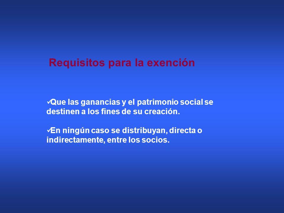 Requisitos para la exención