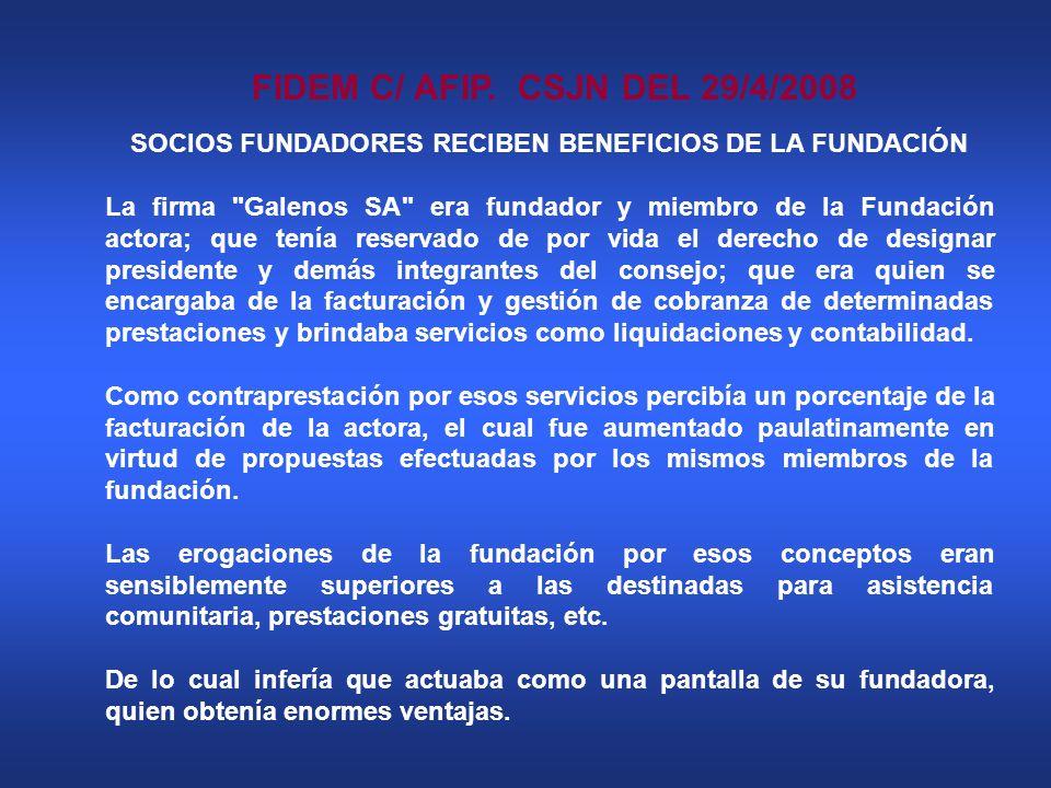 FIDEM C/ AFIP. CSJN DEL 29/4/2008