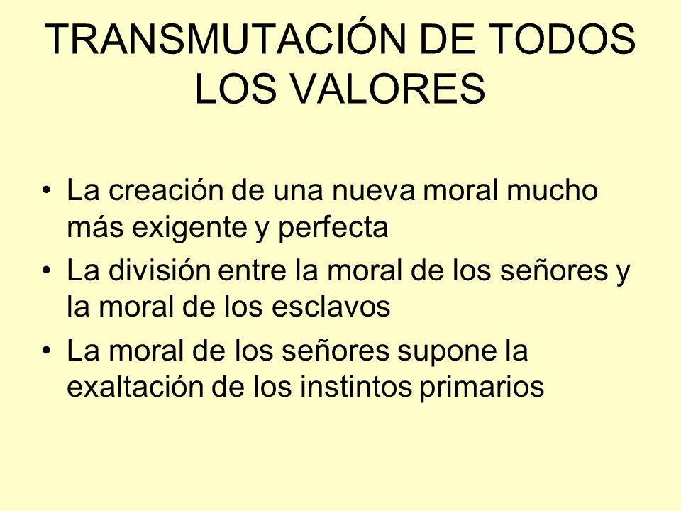 TRANSMUTACIÓN DE TODOS LOS VALORES