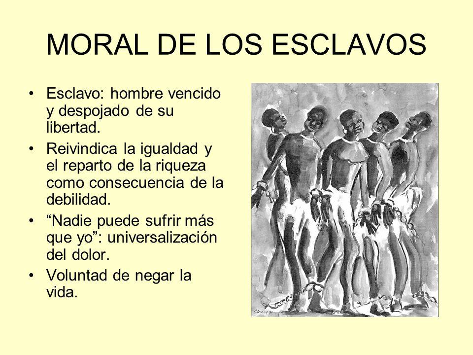 MORAL DE LOS ESCLAVOS Esclavo: hombre vencido y despojado de su libertad.