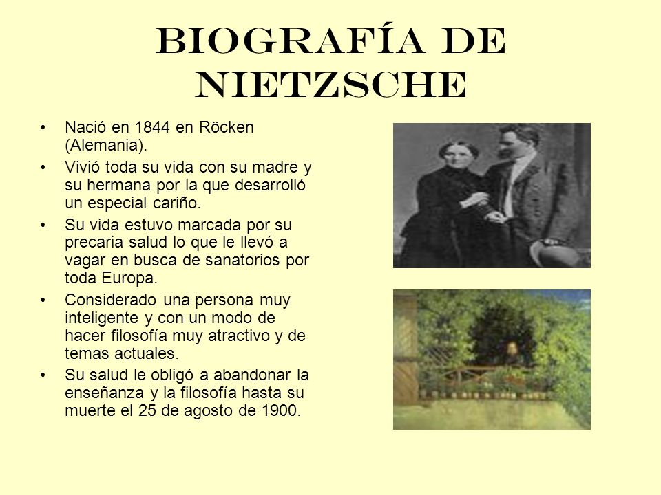 BIOGRAFÍA DE NIETZSCHE
