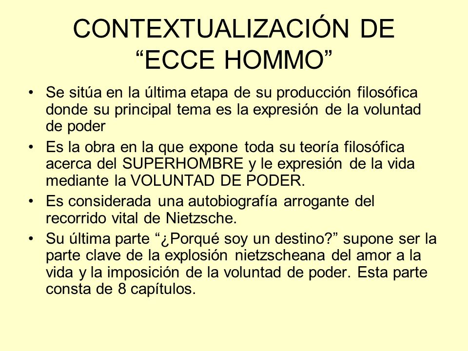 CONTEXTUALIZACIÓN DE ECCE HOMMO