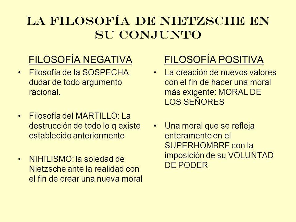 LA FILOSOFÍA DE NIETZSCHE EN SU CONJUNTO