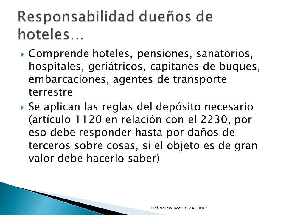 Responsabilidad dueños de hoteles…
